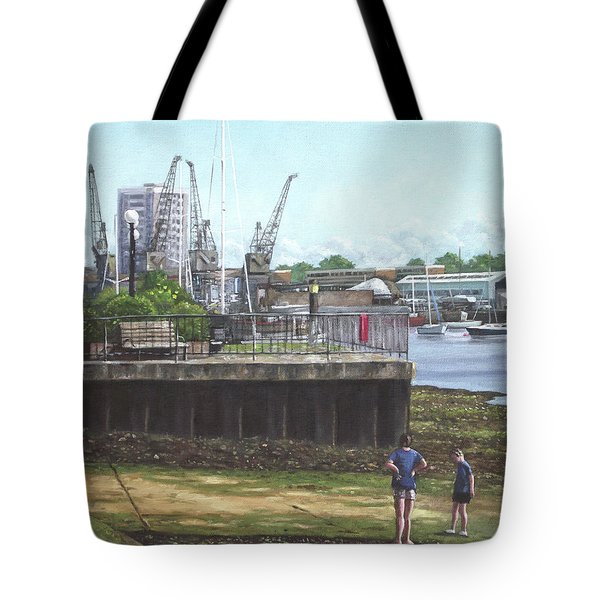 Southampton River Itchen Chapel Tredegar Wharf Tote Bag by Martin Davey