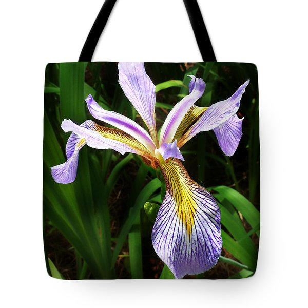 Southern Blue Flag Iris Tote Bag