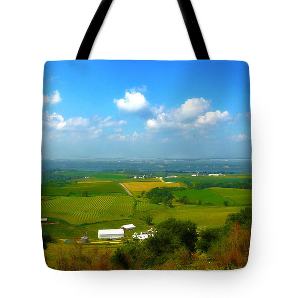 Southern Illinois River Basin Farmland Tote Bag