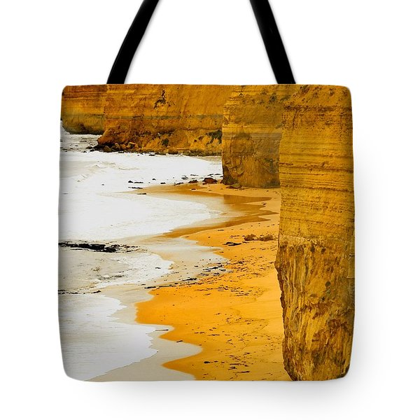 Southern Ocean Cliffs Tote Bag