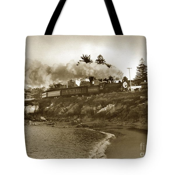 Southern Pacific Del Monte Passenger Train Pacific Grove Circa 1954 Tote Bag
