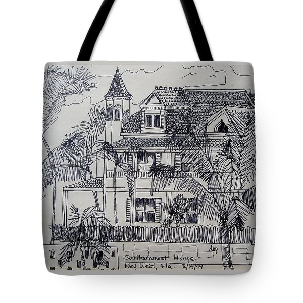 Southernmost House  Key West Florida Tote Bag by Diane Pape