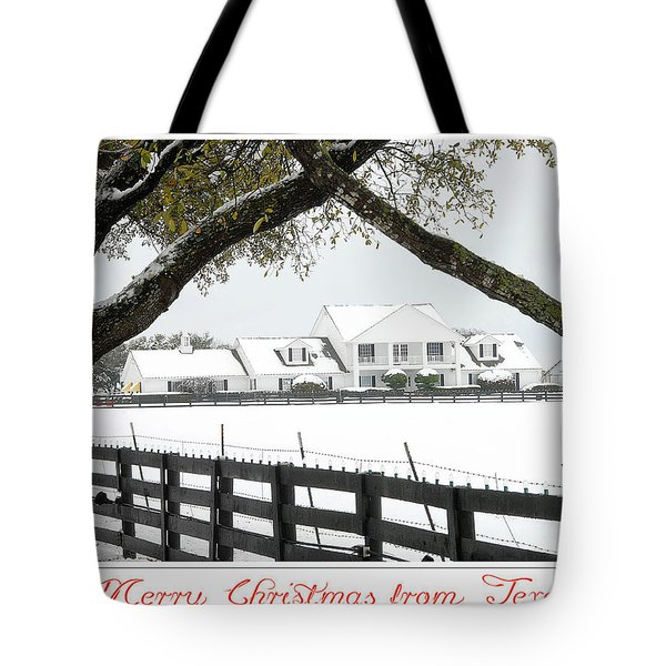 Southfork Christmas Tote Bag by Dyle   Warren