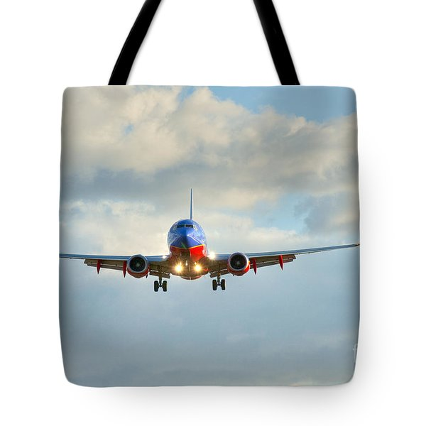 Southwest Airline Landing Gear Down Tote Bag