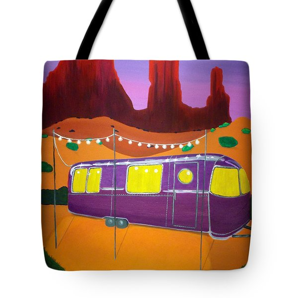 Southwest Contemporary Art - Sedona Twilight Tote Bag by Karyn Robinson