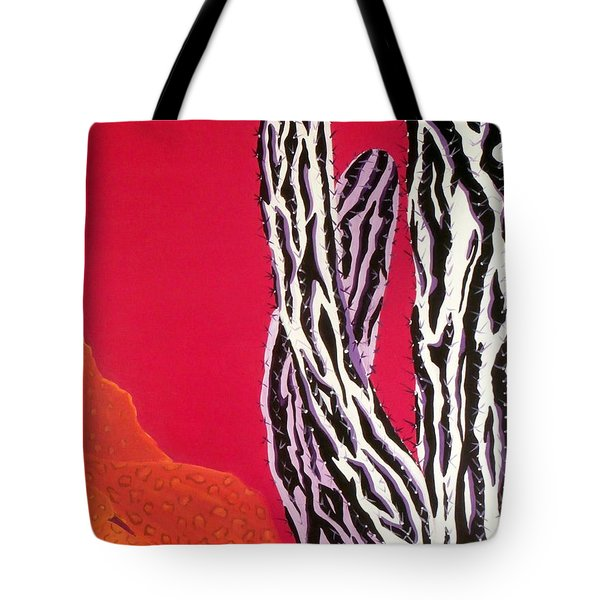 Southwest Contemporary Art - The Wild Wild West Tote Bag by Karyn Robinson