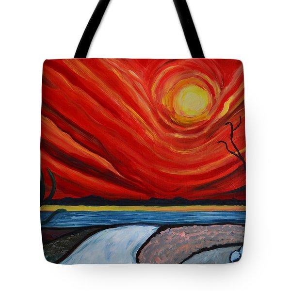 Southwest Desert Sun Tote Bag