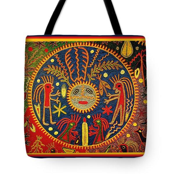 Southwest Huichol Del Sol Tote Bag