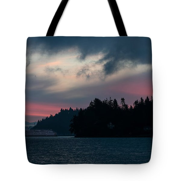 Southworth Ferry Run At Dawn Tote Bag