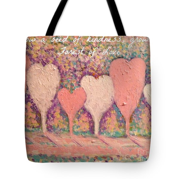 Sow A Seed Of Kindness Greeting Card Tote Bag