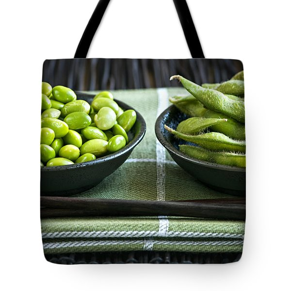 Soy Beans In Bowls Tote Bag by Elena Elisseeva