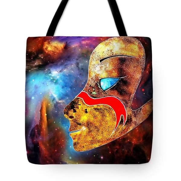 Tote Bag featuring the painting Space  Glory by Hartmut Jager