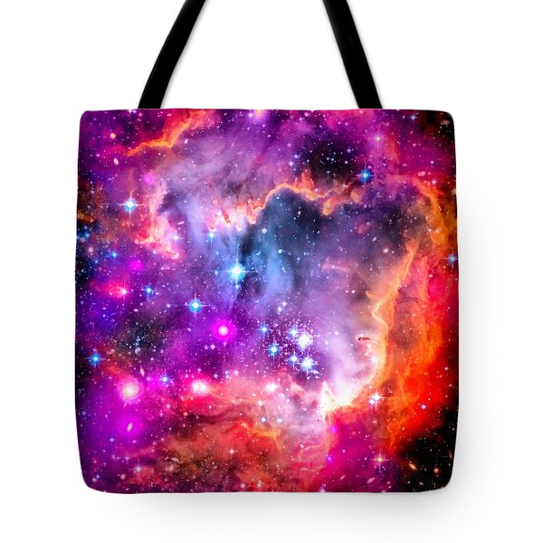 Space Image Small Magellanic Cloud Smc Galaxy Tote Bag