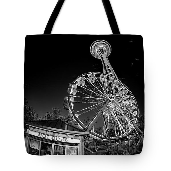 Space Needle Fights The End Of The World Tote Bag