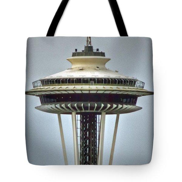 Space Needle Tower Seattle Washington Tote Bag