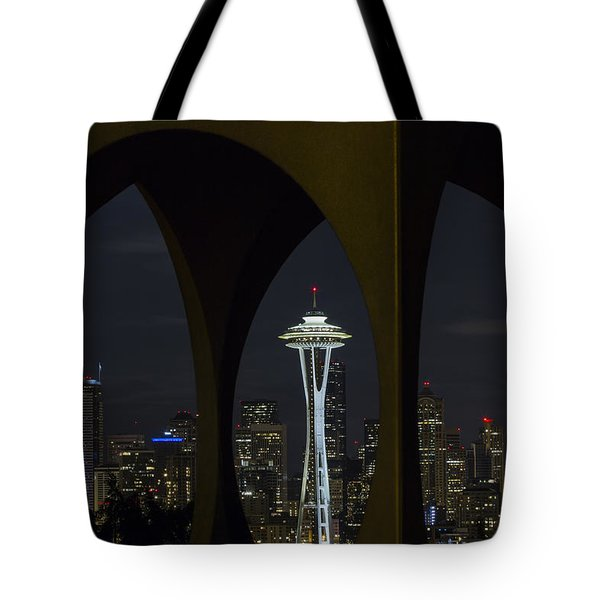 Tote Bag featuring the photograph Space Needle by Windy Corduroy