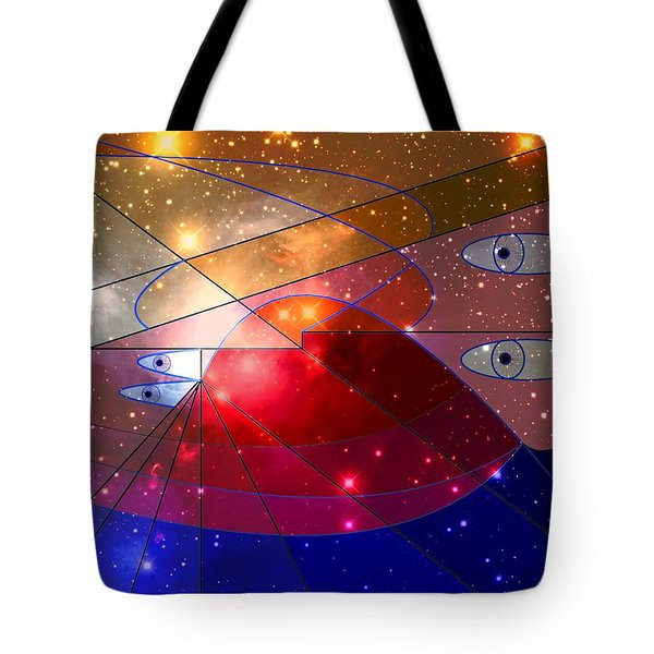 Space Odyssey 08 Tote Bag by Ron Davidson