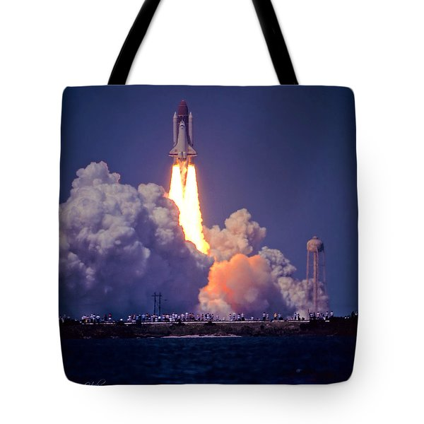 Space Shuttle Challenger Sts-6 First Flight 1983 Photo 1  Tote Bag