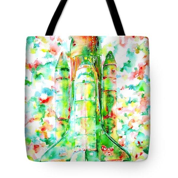 Space Shuttle - Launch Pod Tote Bag by Fabrizio Cassetta