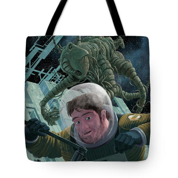Space Station Monster Tote Bag by Martin Davey