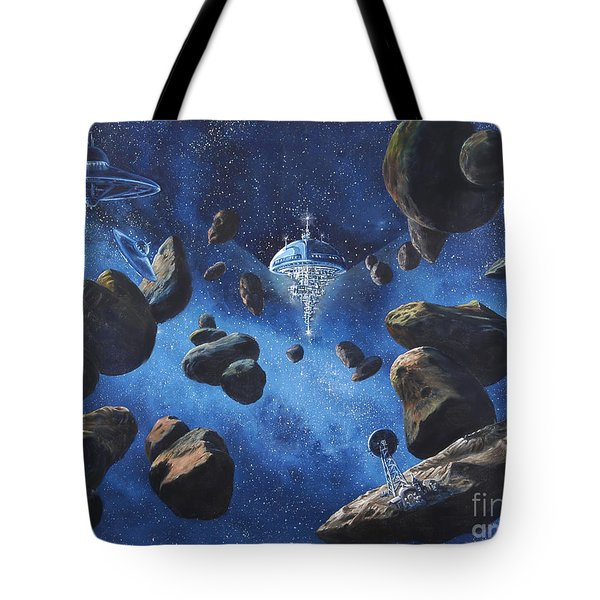 Space Station Outpost Twelve Tote Bag by Murphy Elliott