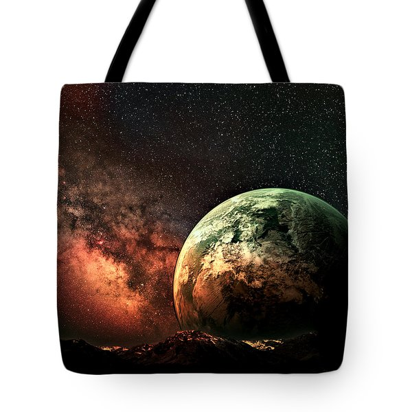Spaced Out Tote Bag by Ally  White