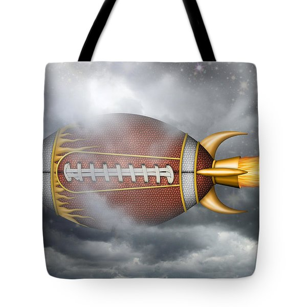 Spaceship Football Tote Bag