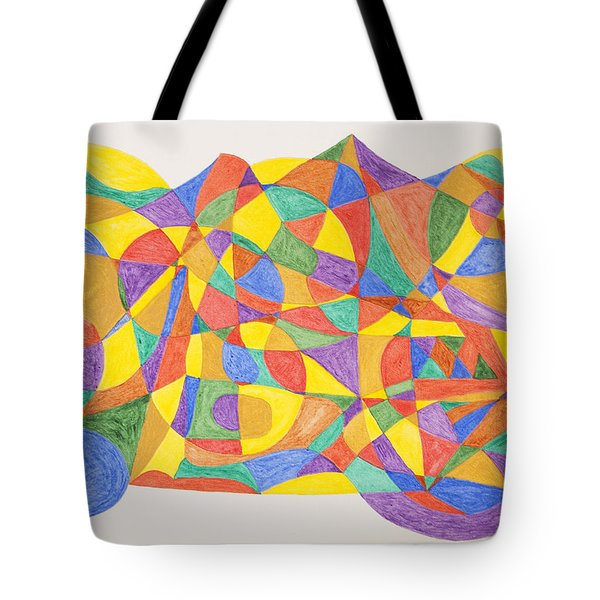 Tote Bag featuring the painting Space Craft by Stormm Bradshaw