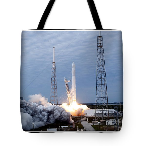 Spacex-2 Mission Launch Nasa Tote Bag