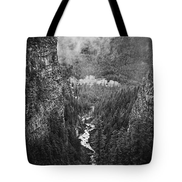 Spahats Creek Canyon In Wells Gray Provincial Park Tote Bag