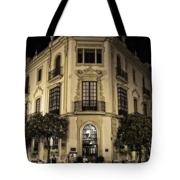Spain At Night Tote Bag by Mary Machare