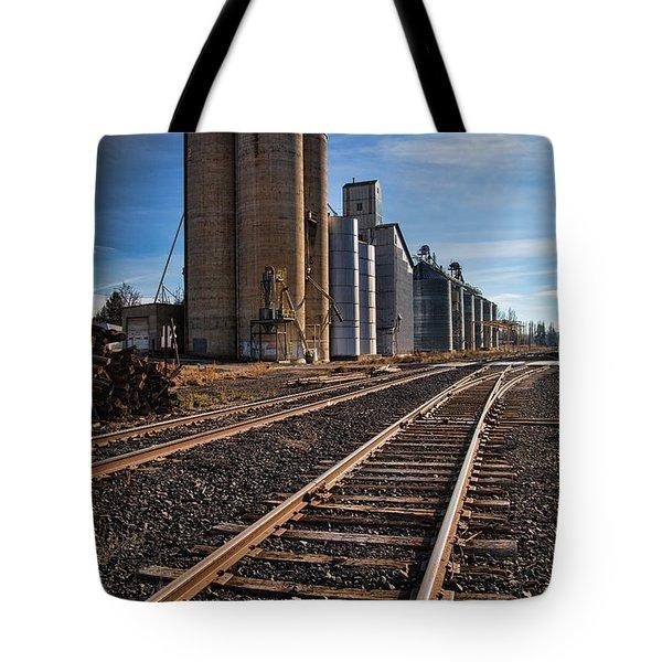 Spangle Grain Elevator Color Tote Bag
