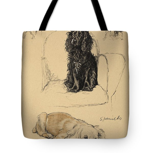 Spaniels, 1930, Illustrations Tote Bag by Cecil Charles Windsor Aldin
