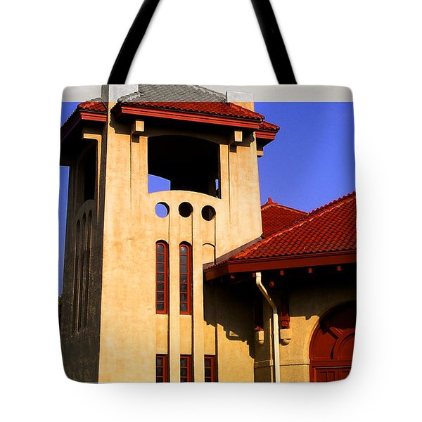 Spanish Architecture Tile Roof Tower Tote Bag