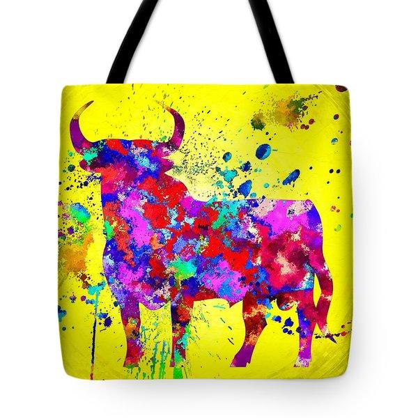 Spanish Bull Tote Bag by Daniel Janda