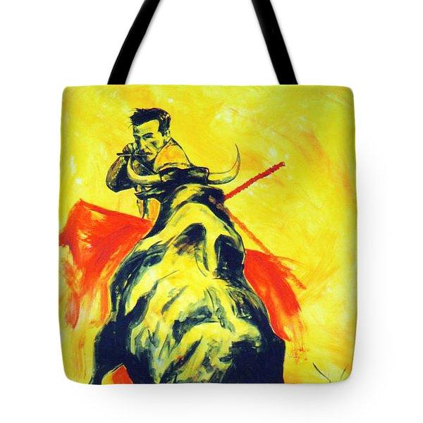 Spanish Bullfight Tote Bag