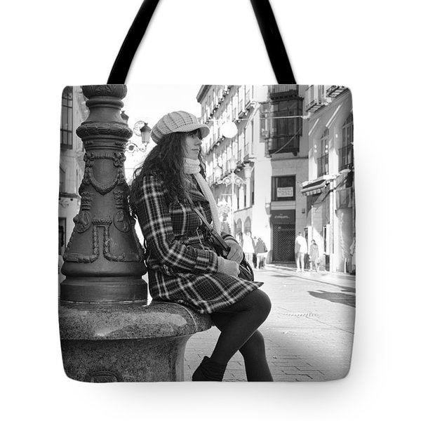 Waiting In This Spanish Street Tote Bag