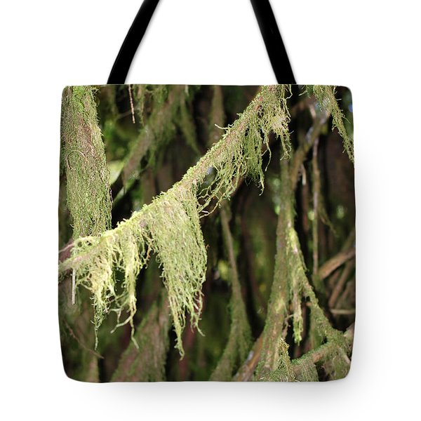Spanish Moss In Olympic National Park Tote Bag