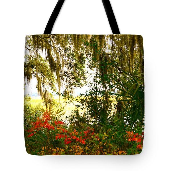 Spanish Moss Of Beaufort 1 Tote Bag by Teresa Tilley