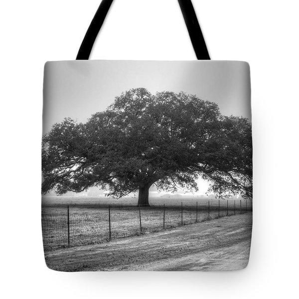 Spanish Oak Black And White Tote Bag