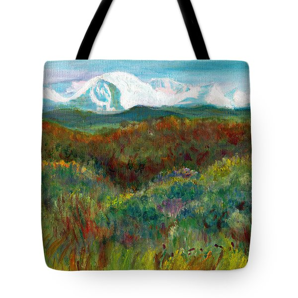 Spanish Peaks Evening Tote Bag