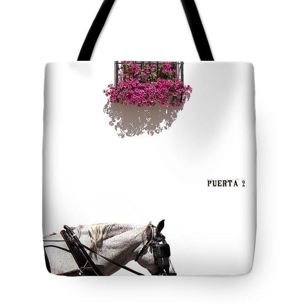 Spanish Scene Tote Bag by Mal Bray