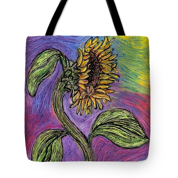 Spanish Sunflower Tote Bag by Sarah Loft