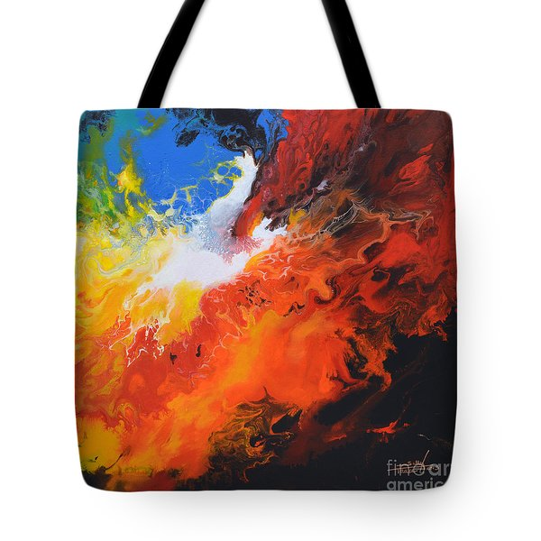 Spark Of Life Canvas Three Tote Bag
