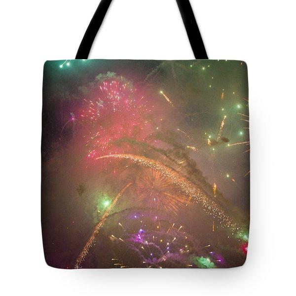 Sparked Sky Tote Bag