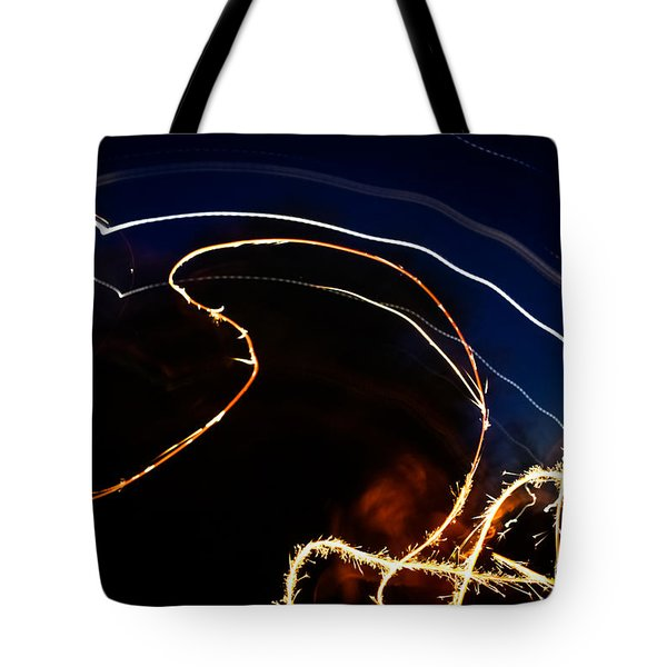 Tote Bag featuring the photograph Sparkler by Joel Loftus