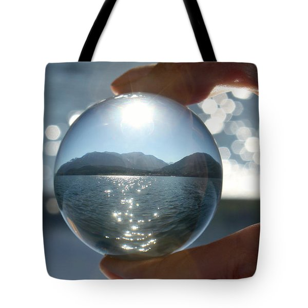 Sparkles On The Water Tote Bag by Cathie Douglas