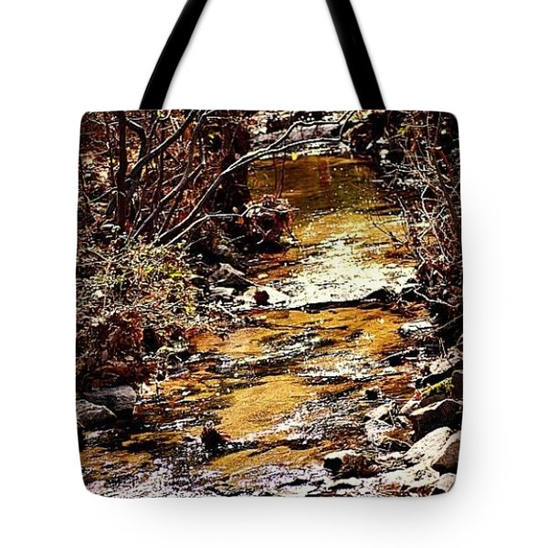 Tote Bag featuring the photograph Sparkling Creek by Tara Potts