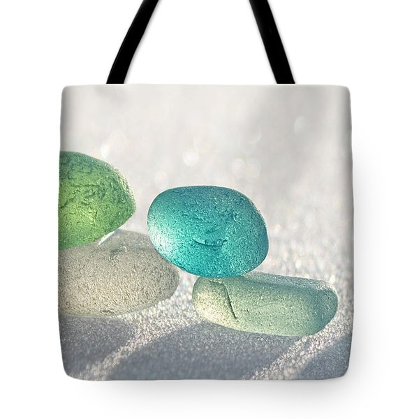 Sparkling Sea Glass Friends Tote Bag
