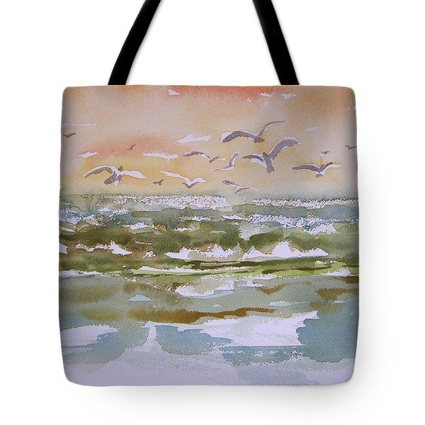 Sparkling Surf Tote Bag